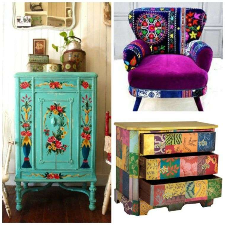 muebles color boho