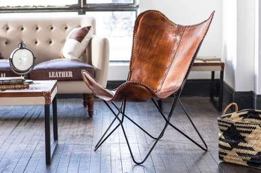 silla cuero rustica